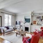 Rénovation complète d'un appartement haussmannien, avec des peinture Argile Couleurs de Terre Sable Gris