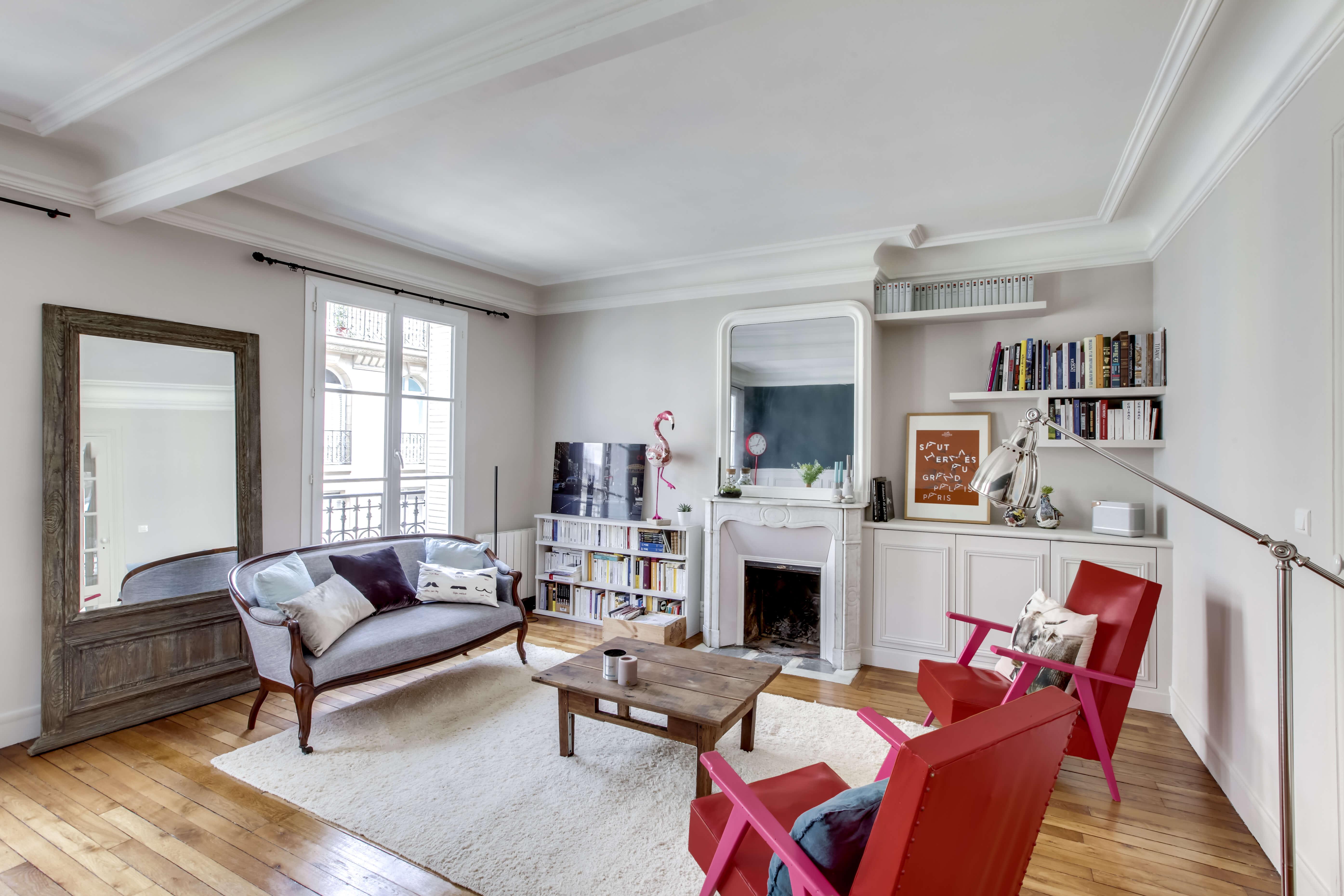 r novation compl te d 39 un appartement haussmannien monsieur peinture. Black Bedroom Furniture Sets. Home Design Ideas