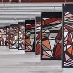 """STOUL - Parking Les Dunes bâtiment Société Générale à Fontenay-sous-bois """"ORU CONSTRUCTION RED"""" - Spray acrylique sur béton 850 m² - 2016 Collection Société Générale - Photo Aurélien Mole"""