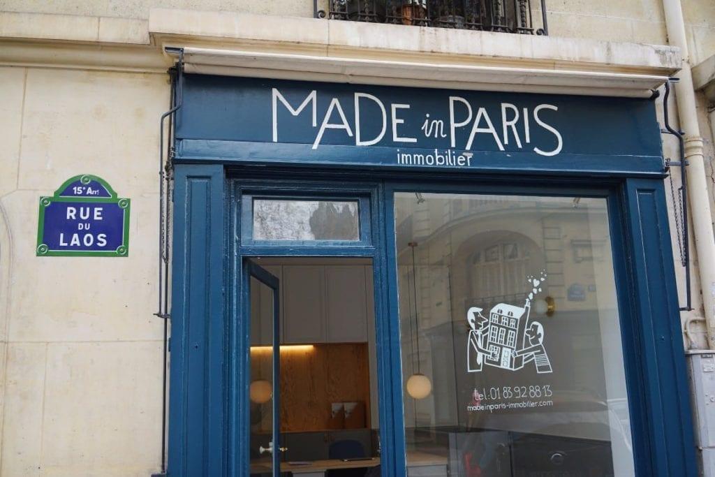 Ravalement de façade et rénovation d'une agence à Paris
