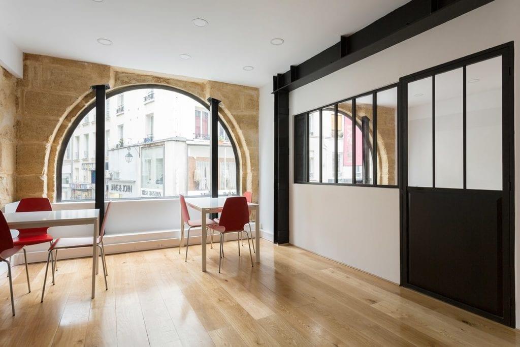 Rénovation de bureaux avec mise en place d'une verrière
