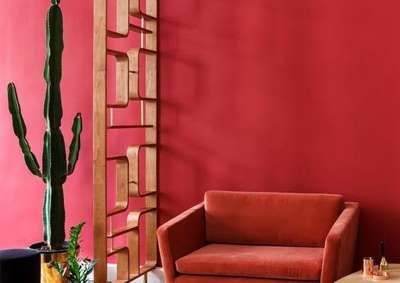 Pièces peintes en rouge
