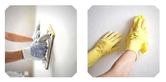 nettoyer et poncer la surface avant de peindre monsieur peinture. Black Bedroom Furniture Sets. Home Design Ideas