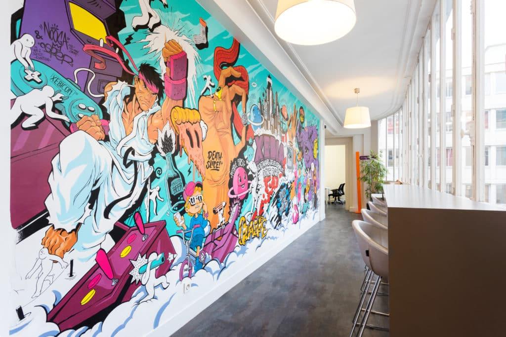 Top 10 : Le street art dans les bureaux : La Sainte Paire