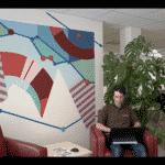 Des fresques dans un incubateur de startups