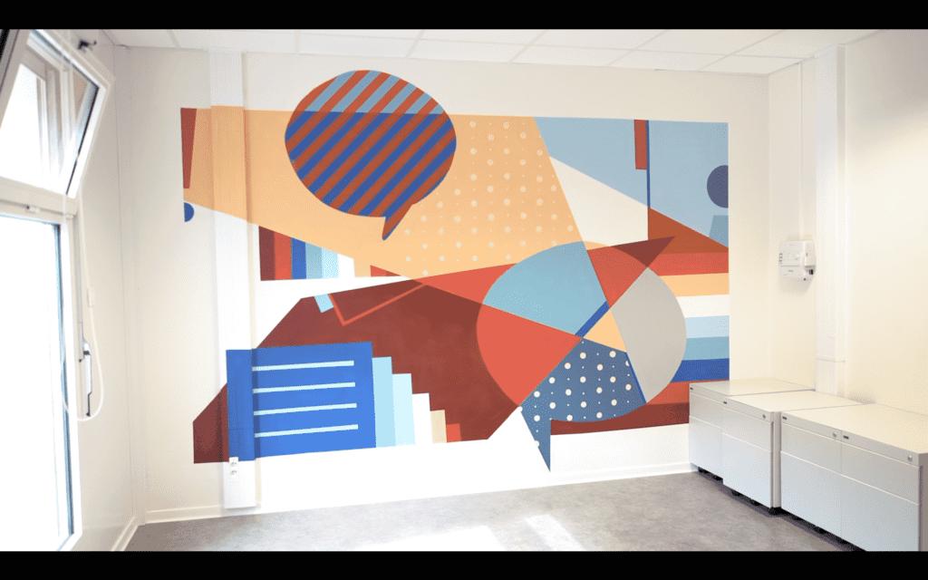 Fresques par Monsieur Peinture dans un incubateur de startups