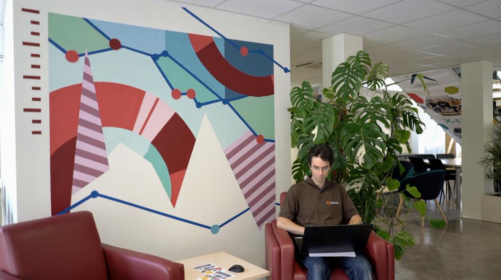 X-Tech – Fresques dans incubateur de startups - Monsieur Peinture - Fresque 3