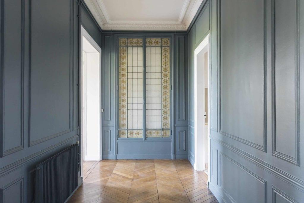 Rénovation parquet en point de Hongrie et peinture