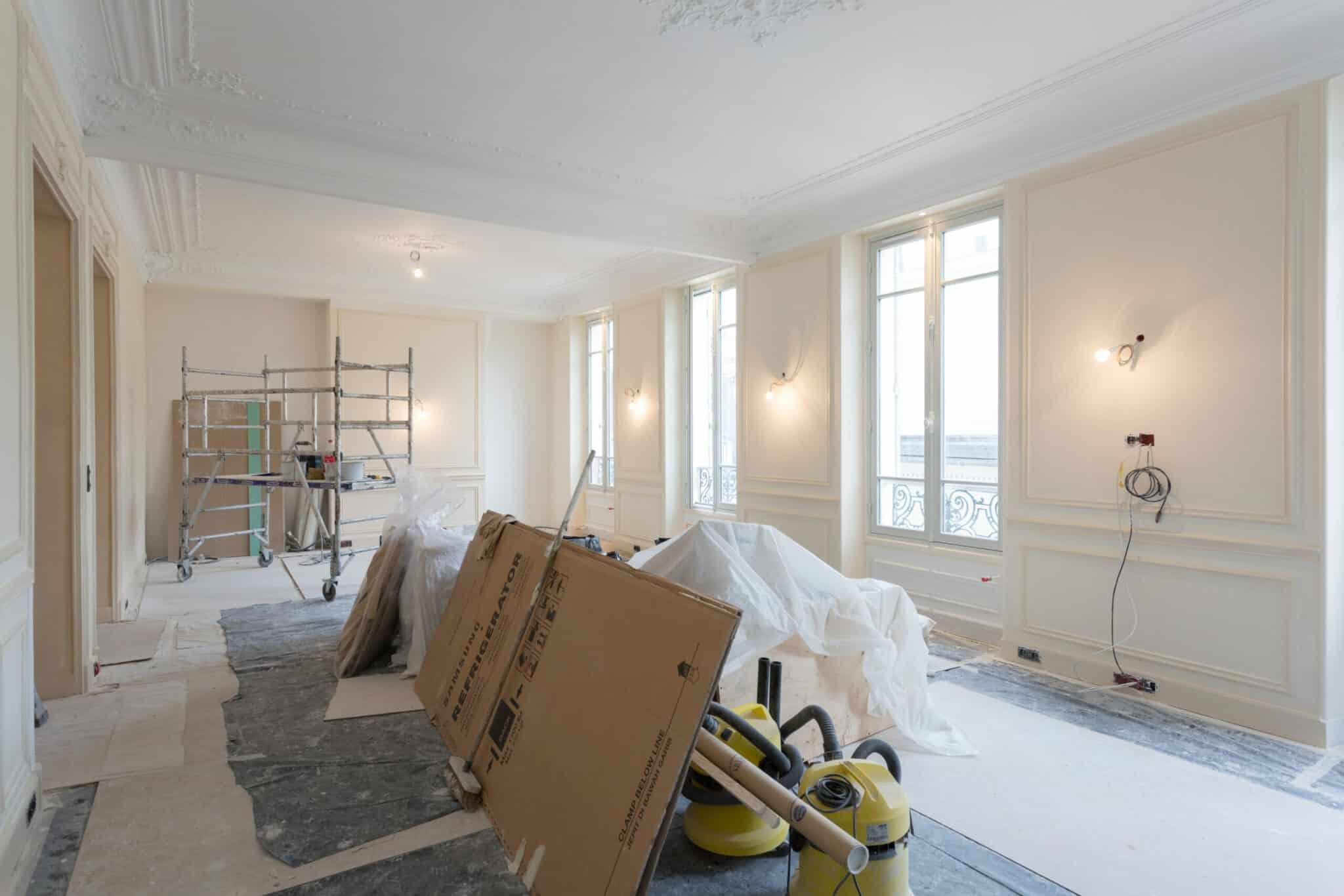Nos peintres rénovent un appartement à Paris 7ème