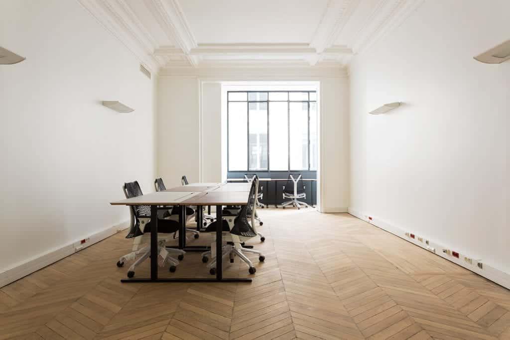 rénovation parquet peintures espace coworking patchwork st lazare