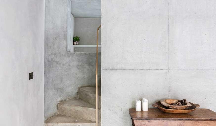 béton ciré escalier