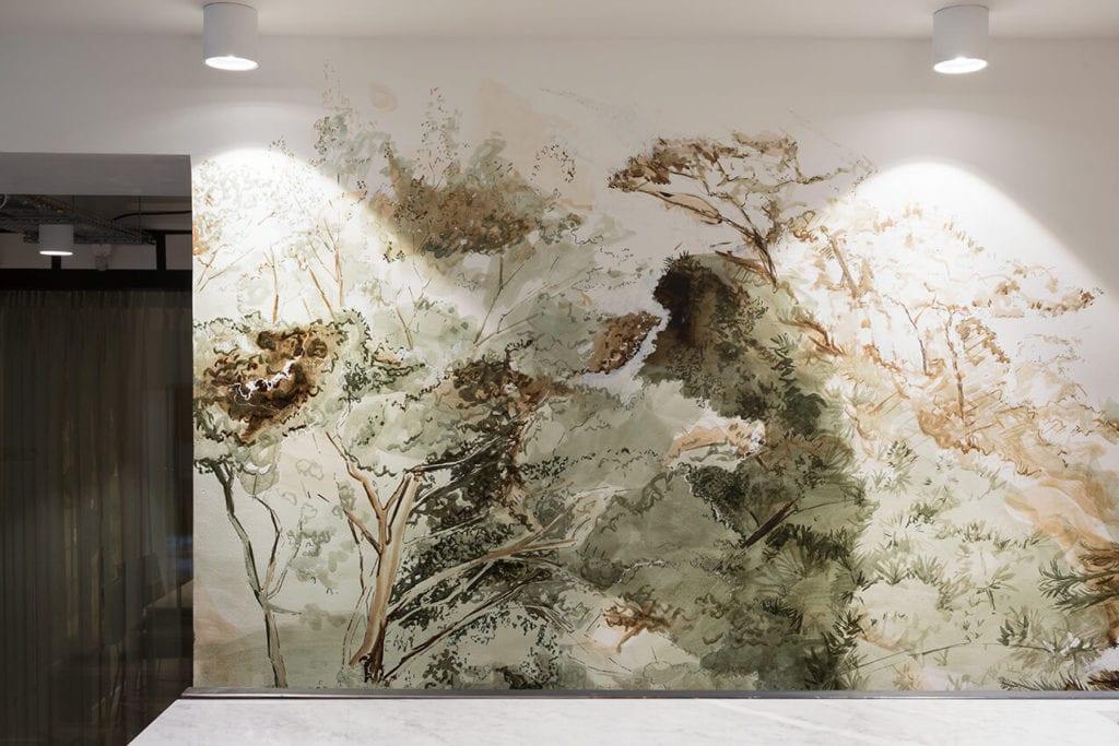fresque végétale bureaux