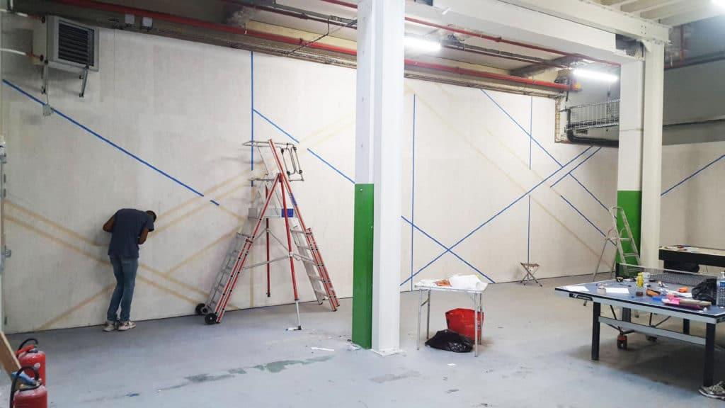 OVHCLOUD | Fresque dans salle de sport par Monsieur Peinture