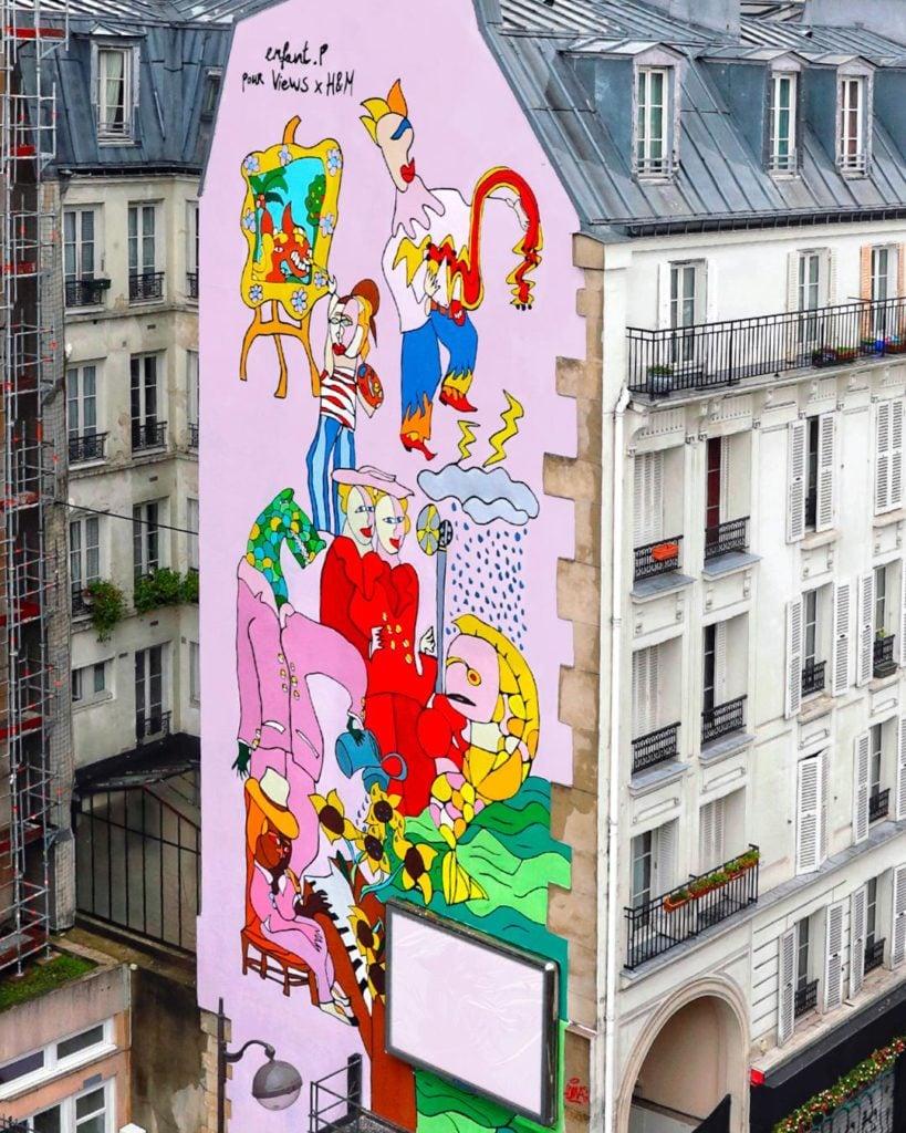 Views x H&M | Fresque sur façade d'immeuble
