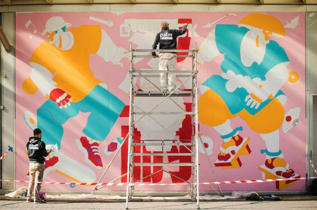 Palm a réalisé une fresque de 40m² pour G-SHOCK à Châtelet les Halles
